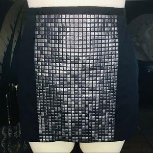 Mason by Michelle Mason Black Studded Mini Skirt